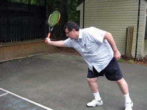 Tennis squash shot