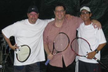 Two fabulous tennis coaches and Tom Antion
