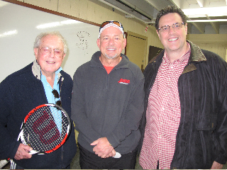 Vic Braden Richard Neher and Tom Antion at Vic Braden's doubles clinic